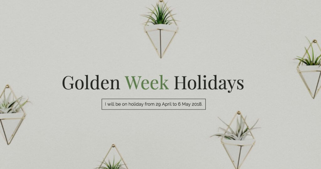 golden week holidays 2018