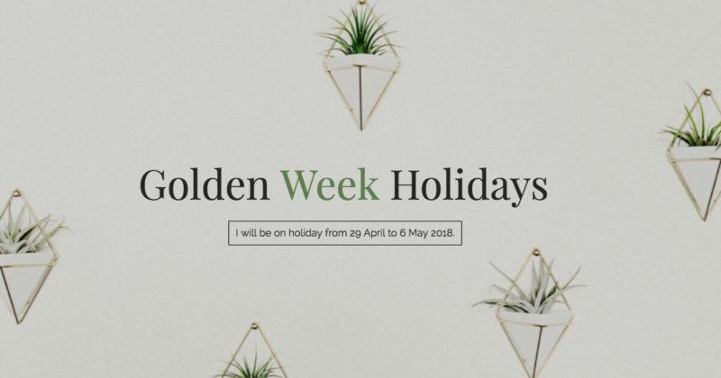 golden week holidays 2018